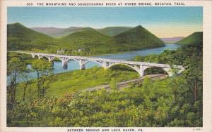 The Mountains And Susquehanna River At Hyner Bridge Bucktail Trail Between Re...