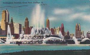 Illinois Chicago Buckingham Fountain Grant Park 1959