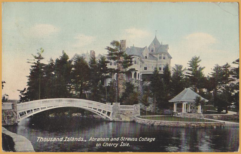 Thousand Islands, New York, Abraham and Strauss Cottage on Cherry Island-1910