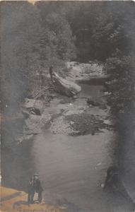 F2/ Brecksville Ohio RPPC Postcard c1910 The Gorge People
