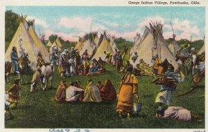 Osage Indian Village , pAWHUSKA , Oklahoma , 1930s