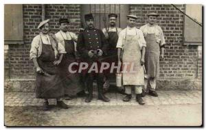 Old Postcard PHOTO CARD Army Soldiers Camp of Sissonne