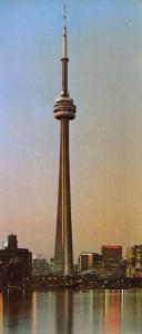 Vintage Panorama Style, CN Tower, Toronto, Canada Postcard, 205x89mm OS131