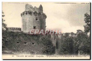 Old Postcard Valley of Guer Tonquedec Grad The Dungeon and the Remparts du Ch...