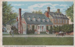 Oldest House In Yorktown & Nelson House Antique American Postcard
