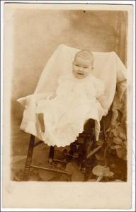 RPPC, Baby in Chair