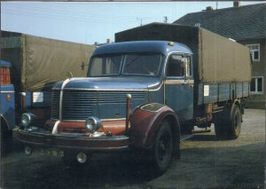 Vintage Trucks on Postcards GERMANY 1950 KRUPP Titan, 210 PS, 6 Zylinder