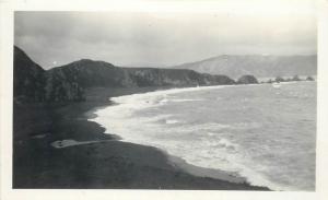 Real photo New Zealand Breaker Bay at Wellington Heads