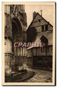 Old Postcard La Douce France Au Havre De Rouen Caudebec-en-Caux From Renaissa...