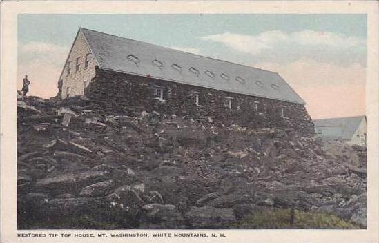 New Hamphire White Mountain Restored Tip Top House Mount Washington
