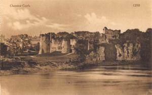 Vintage Sepia Postcard CHEPSTOW CASTLE Monmouthshire Wales