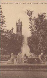 Iowa Ames Memorial Union Fountain Iowa State College Artvue