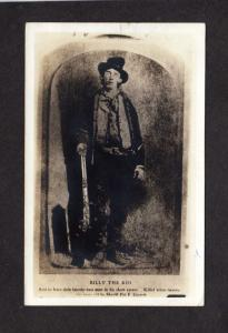 NM Billy the Kid Gunfighter Fort Ft Sumter, New Mexico Real Photo Postcard RPPC