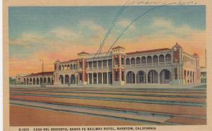 BARSTOW, California, 30-40s; Casa Del Desierto, Santa Fe Railway Hotel, Fred Har