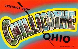 LPS37 CHILLICOTHE Ohio LARGE Big Letter Postcard