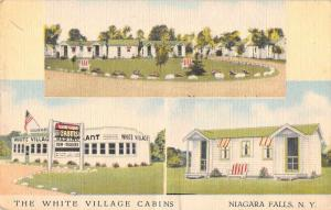 Niagara Falls New York White Village Cabins Linen Antique Postcard J70938