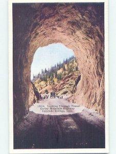 Linen MOUNTAIN TUNNEL Colorado Springs Colorado CO AD4477