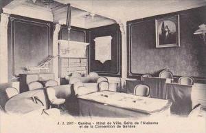 Switzerland Geneva Hotel de Ville Salle de l'Alabama et de la Convention de G...