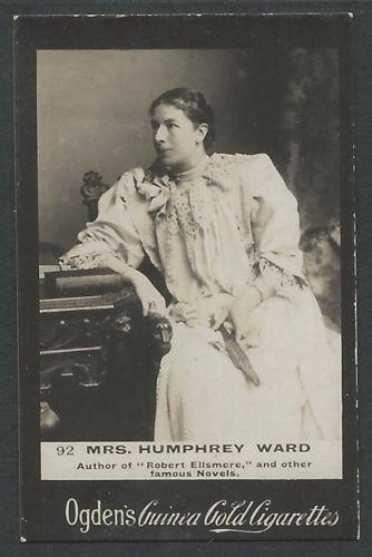 Ogden's Guinea Gold MRS. HUMPHREY WARD Cigarettes Card