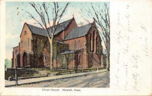 NORWICH CONNECTICUT~CHRIST CHURCH-E A BARDOL PUBLISHED POSTCARD