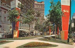 Washington Boulevard and The Statler Hotel Detroit Michigan