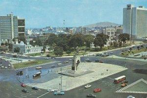 Crossroads Traffic at Don Miguel Hidalgo Juarez Monument Brazil Aerial Postcard