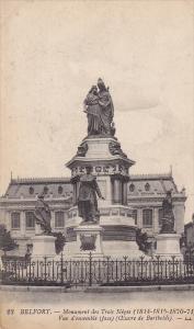 Monument Des Trois-Sieges, Belfort, Franche-Comte, France, 1900-1910s