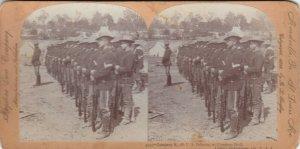 SV: CAMP CHICKAMAUGA , Georgia , 1890s ; Company E, 7th U.S. Infantry