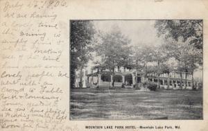 MOUNTAIN LAKE PARK , Maryland , 1906 ; Mountain Lake Park Hotel