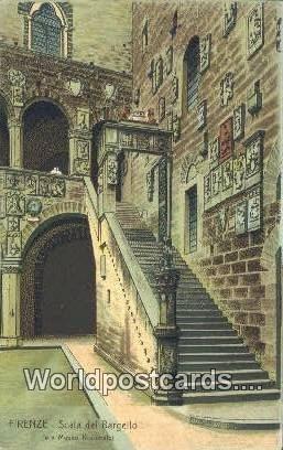 Scala del Bargello Firenze, Italy Unused