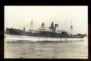 bf1223 - Maclay & MacIntyre Cargo Ship - Uganda , built 1927 - postcard Feilden