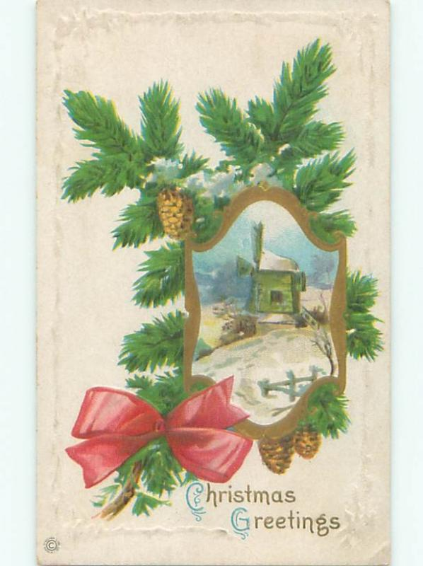 Divided-Back CHRISTMAS SCENE Great Postcard W9626