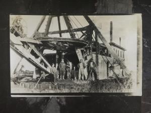 Mint Canada RPPC Postcard Construction Steam Dredge at Work Canada