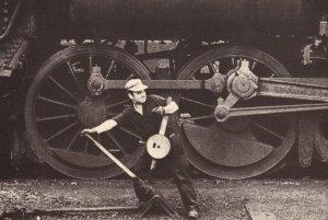 Railway Lineman All Trains To Stop Book Photo Postcard