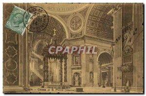 Italy Italia Roma Old Postcard Chiesa di Pietro