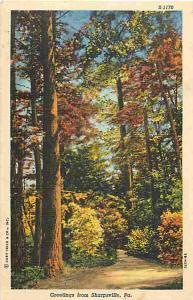 W/B Scenic Card Greetings from Sharpsville Pennsylvania
