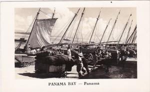 Panama Fishing Boats Panama Bay Real Photo