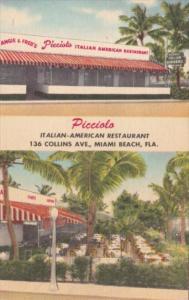Florida Miami Beach Angie & Fred's Picciolo Italian American Restaurant