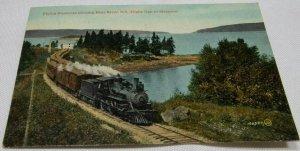 Flying Bluenose Passing Bear River, N.S, Canada Vintage Postcard 1907-1914