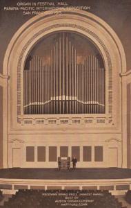 Organ in San Fransisco Festival Hall Award Wins Exposition 1915 WW1 USA Postcard