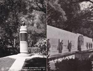 Geneve Monument International Aguascalientes 2x Real Photo Postcard s