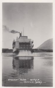 RP: YUKON TERRITORY, Canada , 1920-30s #3; Steamer TUTSHI W.P.Y.R. at CARCROSS