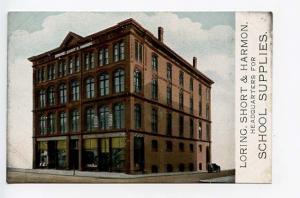 Portland ME Loring Short & Harmon School Supplies Postcard