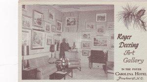 PINEHURST , North Carolina , 1964 ; Roger Deering Art Gallery, Carolina Hotel