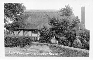 ALFRISTON SUSSEX ENGLAND-THE OLD CLERGY HOUSE-REAL PHOTO POSTCARD
