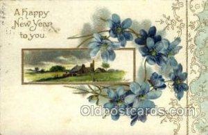 Artist Clapsaddle, New Year 1908 light crease right bottom corner postal mark...