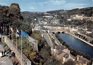 Belgium Bouillon Pont de Liege vu du Chateau Fort Castle Bridge River