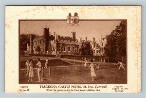 Cornwall, UK-United Kingdom, Tregenna Castle Hotel, St. Ives, Vintage Postcard