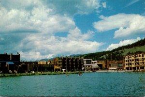 Colorado Keystone Village and Keystone Lake Looking West