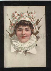 068231 Circus CARNIVAL Lady BELLE Portrait Vintage